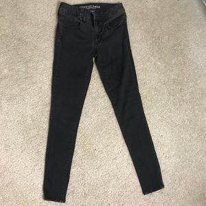 Black skinny jeggings